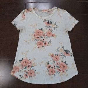 12 PM By Mon Ami | Floral Short Sleeve Shirt